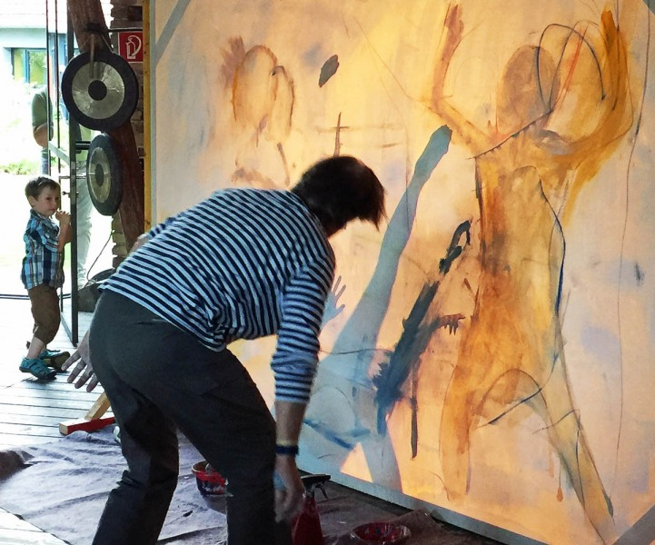 Atelierfest T 8 Dialogmalere mit Hsuan Cheng